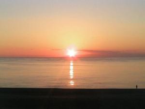 七里御浜から見た初日の出